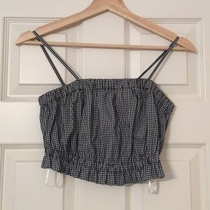 Urban Outfitters Cinched Plaid Tank Top